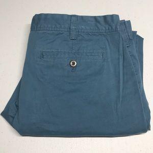 EXPRESS 32 x 30 Blue Chino Pants - SLIM FIT FINN